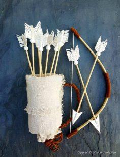 No-sew Quiver and Macrame Arrows DIY