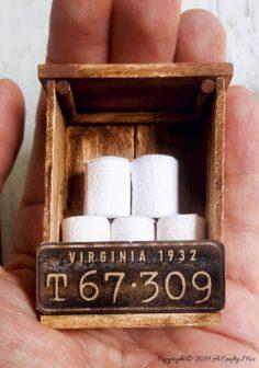 DIY Mini Toilet Paper Storage with Real Tiny Toilet Rolls