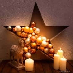 Make a Stunningly Simple Bauble and Light Filled Star